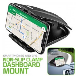 RHD100 - SMARTPHONES AND GPS NON-SLIP CLAMP DASHBOARD MOUNT