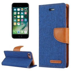 CANVAS DIARY FOR IPHONE 11 (BLUE/CAMEL)