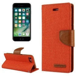 CANVAS DIARY FOR IPHONE 11 (ORANGE/CAMEL)