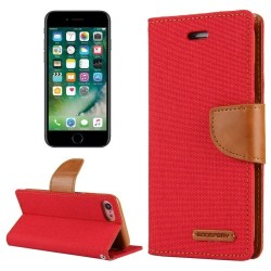 CANVAS DIARY FOR IPHONE 11 (RED/CAMEL)