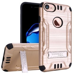 Slim Armor Brushed Metal Design Hybrid PC TPU With Metal Stand for iPhone 6/7/8