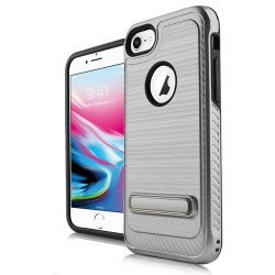 BRUSHED METALLIC W/ EDGE AND KICK FOR IPHONE 6+/7+/8+