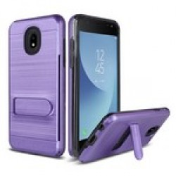 Brushed Metal W/Stand, Card Slot for Alcatel 1X Evolve