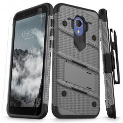 ziZo Bolt with Kickstand, Holster, Temperd Glass, Lanyard for Alcatel 1X Evolve
