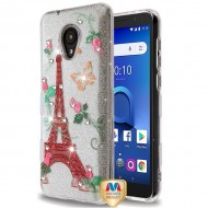 MYBAT Paris Monarch Butterflies Diamante Full Glitter TUFF Hybrid Protector Cover (with Package)