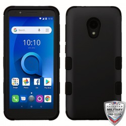 MYBATRubberized Black/Black TUFF Hybrid Phone Protector Cover [Military-Grade Certified](with Package)