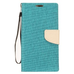 Demin Fabric Wallet for Alcatel 1X Evolve
