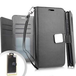 Deluxe Wallet w/ Blister Black For Alcatel 3V