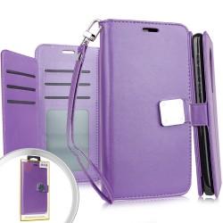 Deluxe Wallet w/ Blister Purple For Alcatel 3V