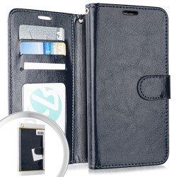 Wallet Pouch 3 Navy Blue For Alcatel 3V