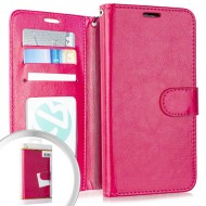 Wallet Pouch 3 Hot Pink For Alcatel 3V