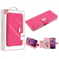 Hot Pink/Pink MyJacket Wallet Xtra Series (GE033) -WP For Alcatel 3V