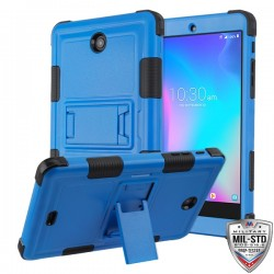 Natural Dark Blue/Black TUFF Hybrid Protector Cover (with Stand)[Military-Grade Certified](with Package) For Alcatel Joy Tap