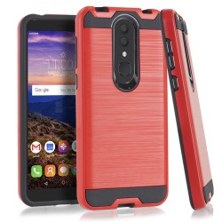 Texture Brushed Metal for Alcatel ONYX_RED
