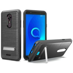 Brushed Metallic EDGE with Magnetic Kickstand for Alcatel ONYX_BLACK