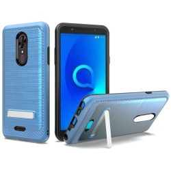 Brushed Metallic EDGE with Magnetic Kickstand for Alcatel ONYX_BLUE