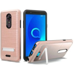 Brushed Metallic EDGE with Magnetic Kickstand for Alcatel ONYX_ROSE GOLD