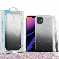Dark Lilac Gradient Glitter Hybrid Protector Cover (with Package) For Iphone 11 Pro Max