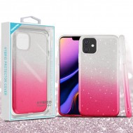 Pink Gradient Glitter Hybrid Protector Cover (with Package) For Iphone 11 Pro Max