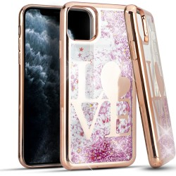 CHROME Glitter Motion Love ROSE GOLD For Iphone 11 Pro Max