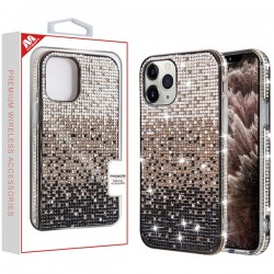 Black Gradient Crystals Sparks Case (with Package) For Iphone 11 Pro Max