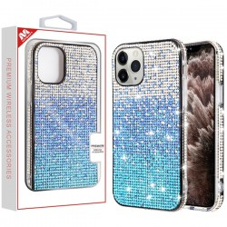 Blue Gradient Crystals Sparks Case (with Package) For Iphone 11 Pro Max