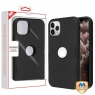 Rubberized Black/Black TUFF Hybrid Phone Protector Cover [Military-Grade Certified](with Package) For Iphone 11 Pro Max