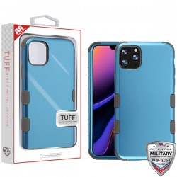 Cobalt/Mocha TUFF Hybrid Phone Protector Cover [Military-Grade Certified](with Package) For Iphone 11 Pro Max