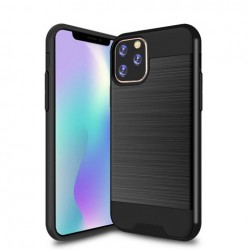 Hybrid Texture Brushed Metal case, Black For Iphone 11 Pro Max