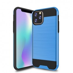 Hybrid Texture Brushed Metal case, Blue For Iphone 11 Pro Max