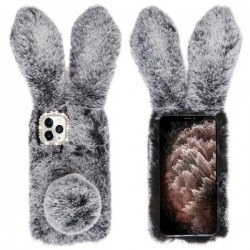 Dark Grey Cute Plush Cartoon Rabbit Protector Cover (with Package) For Iphone 11 Pro Max