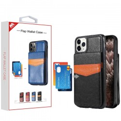 Black Flap Wallet Case (with Package) For Iphone 11 Pro Max