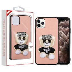 Bear (Pink) Embroidery Executive Protector Cover (with Package) For Iphone 11 Pro Max