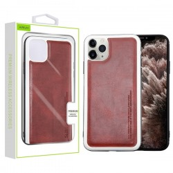 Burgundy Leather Protector Cover (with Package) For Iphone 11 Pro Max