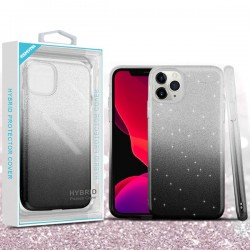 Dark Lilac Gradient Glitter Hybrid Protector Cover (with Package) For Iphone 11 Pro