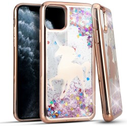 CHROME Glitter Motion Unicorn ROSE GOLD For Iphone 11 Pro