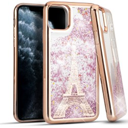 CHROME Glitter Motion ParisTower ROSE GOLD For Iphone 11 Pro