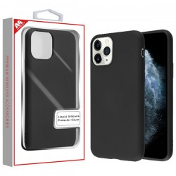 Black Liquid Silicone Protector Cover (with Package) For Iphone 11 Pro