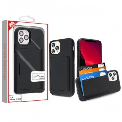 Black/Black Poket Hybrid Protector Cover (with Back Film)(with Package) For Iphone 11 Pro