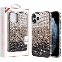 Black Gradient Crystals Sparks Case (with Package) For Iphone 11 Pro
