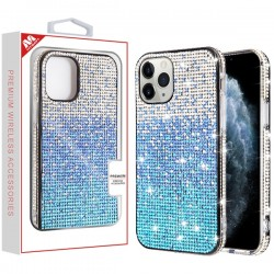 Blue Gradient Crystals Sparks Case (with Package) For Iphone 11 Pro