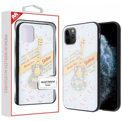 Guitar Jewel Hybrid Case (with Diamonds)(with Package) For Iphone 11 Pro