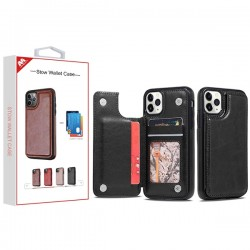 Black Stow Wallet Case (with Package) For Iphone 11 Pro