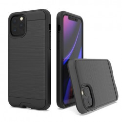 Hybrid Texture Brushed Metal case, Black For Iphone 11 Pro