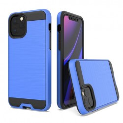 Hybrid Texture Brushed Metal case, Blue For Iphone 11 Pro