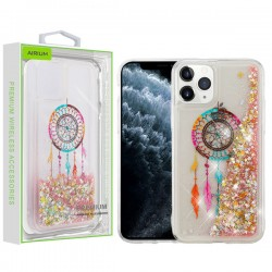 Dreamcatcher & Gold Stars Quicksand Glitter Hybrid Protector Cover (with Package) For Iphone 11 Pro