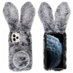 Dark Grey Cute Plush Cartoon Rabbit Protector Cover (with Package) For Iphone 11 Pro