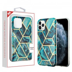 Electroplated Blue Marbling Candy Skin Cover (with Package) For IPhone 11 Pro