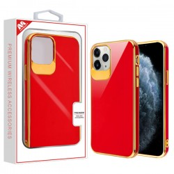 Electroplated Gold/Red Candy Skin Cover (with Package) For Iphone 11 Pro