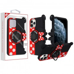 Red Bowknot/Black Pastel Skin Cover (with Ring Stand)(with Package) For IPhone 11 Pro
